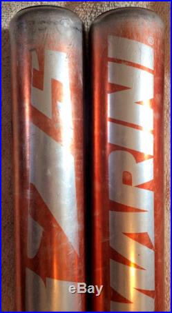 (2) 2007 Demarini 375 Orange Doublewall Alloy Slowpitch Softball Bats Asa 28 Oz