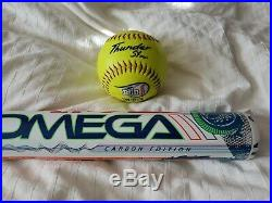 Demarini Omega CARBON ASA/USSSA Slowpitch Softball (Shaved & Rolled)