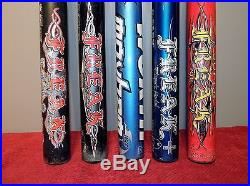 Retiring! Lot of (5) Slowpitch Composite Softball Bats, Miken & Worth